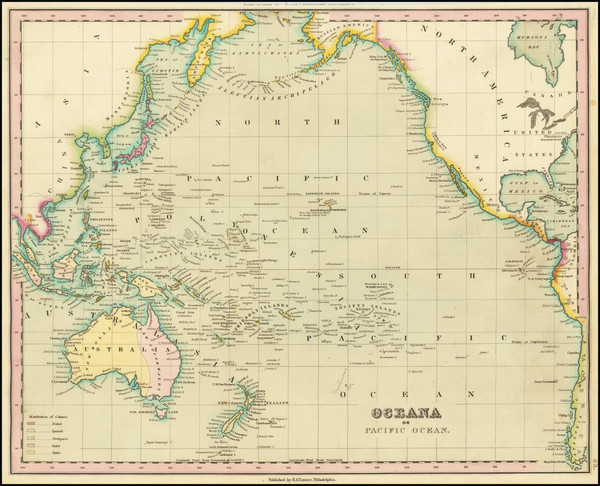 28-Pacific Ocean, Pacific and Oceania Map By Henry Schenk Tanner