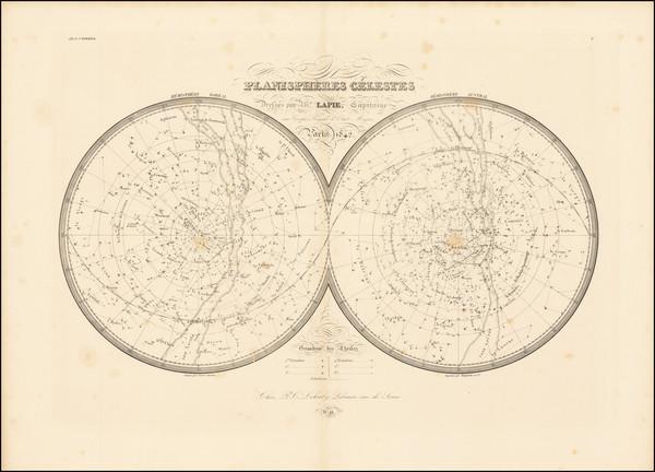 25-Celestial Maps Map By Alexandre Emile Lapie