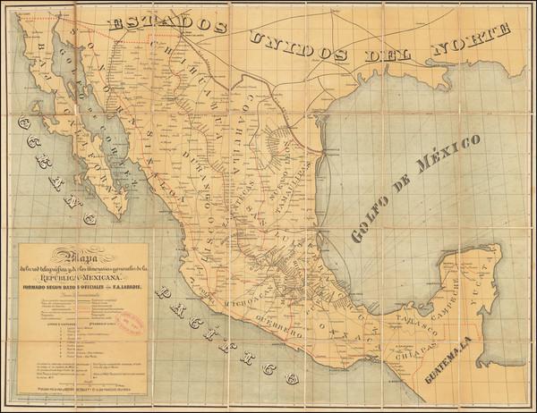 29-Mexico Map By Britton & Rey / Felipe A. Labadie