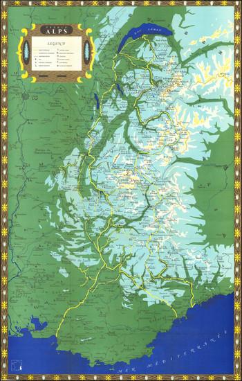 70-France Map By Ministere des Travaux Publics