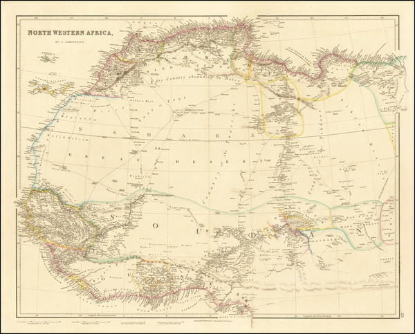 65-North Africa and West Africa Map By John Arrowsmith
