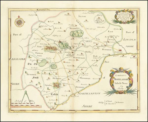 54-British Counties Map By Robert Morden