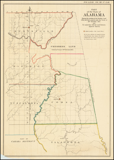 49-Alabama Map By United States GPO