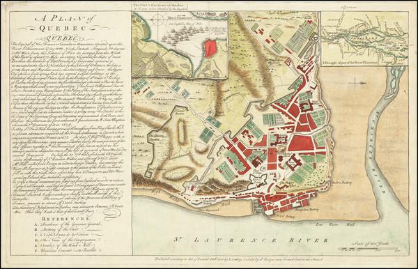 96-Canada and Quebec Map By John Rocque / Edward Oakley