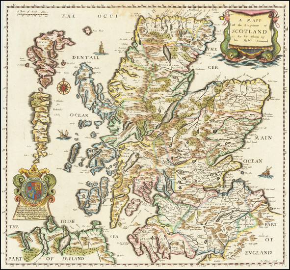 1-Scotland Map By Richard Blome
