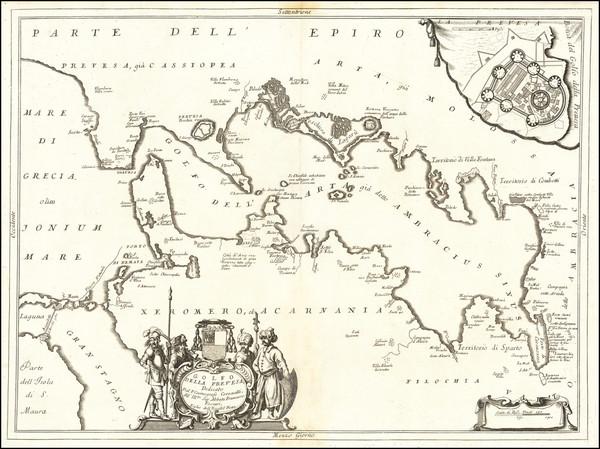 57-Greece Map By Vincenzo Maria Coronelli