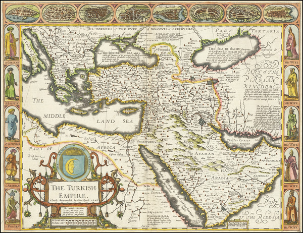 54-Russia, Ukraine, Turkey, Mediterranean, Middle East and Turkey & Asia Minor Map By John Spe