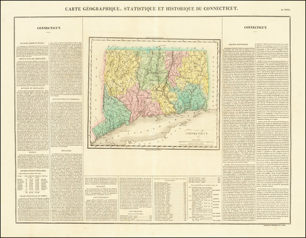 47-Connecticut Map By Jean Alexandre Buchon