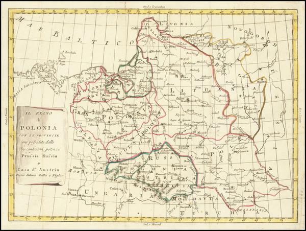 24-Poland Map By Antonio Zatta