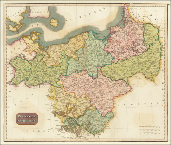 87-Germany, Poland and Baltic Countries Map By John Pinkerton