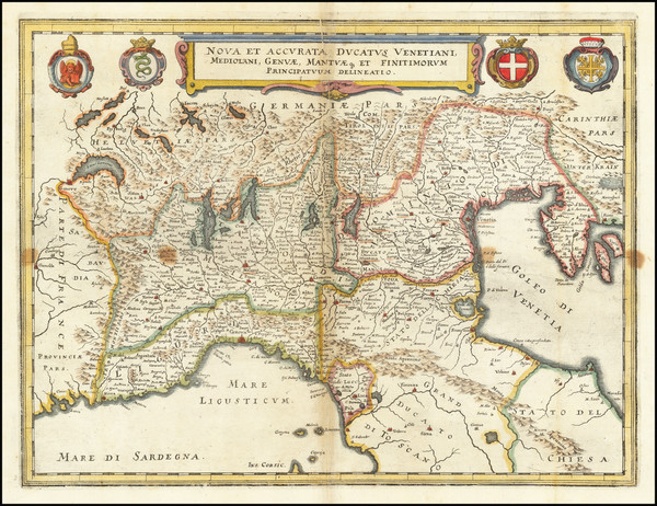 7-Northern Italy Map By Matthaus Merian