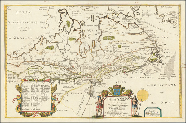 38-New England, Mid-Atlantic, Midwest, Canada and Eastern Canada Map By Pierre Du Val