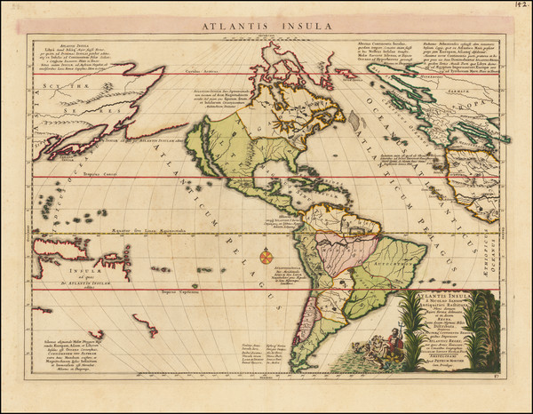 82-Atlantic Ocean, South America, Australia & Oceania, Pacific, Oceania and America Map By Pie