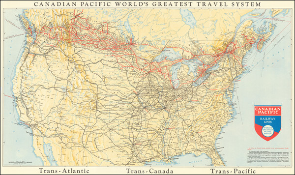 84-Canada Map By Canadian Pacific Railway