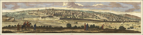 89-Jerusalem Map By Cornelis De Bruyn