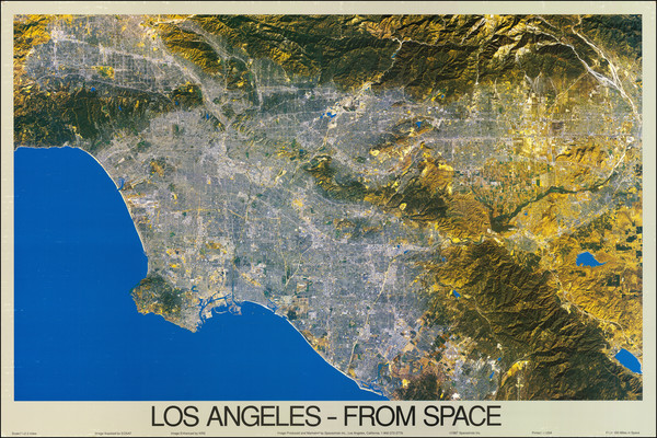46-Los Angeles Map By Spaceshots Inc.