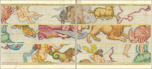 59-Celestial Maps Map By John Senex