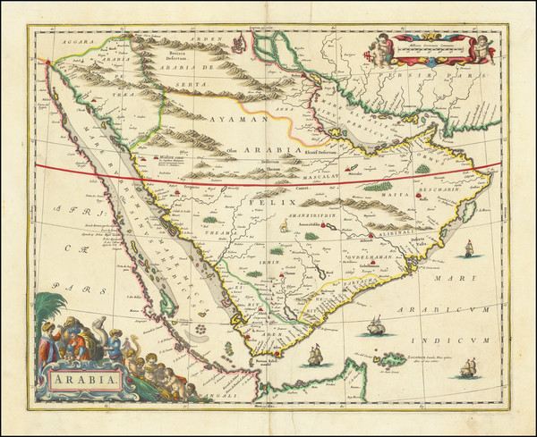 0-Middle East and Arabian Peninsula Map By Johannes Blaeu