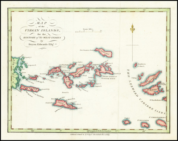 23-Virgin Islands Map By Bryan Edwards