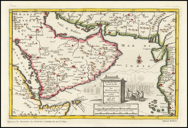 71-Middle East and Arabian Peninsula Map By Pieter van der Aa