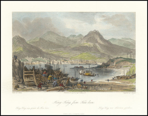 36-Hong Kong Map By Fisher & Son