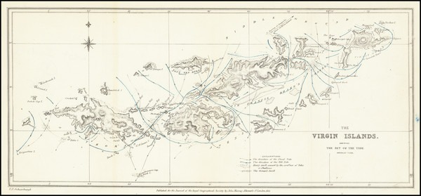 8-Virgin Islands Map By Royal Geographical Society