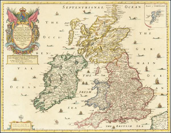 70-British Isles Map By Richard Blome