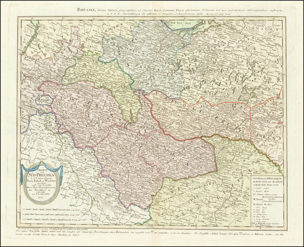 46-Poland Map By Franz Ludwig Gussefeld