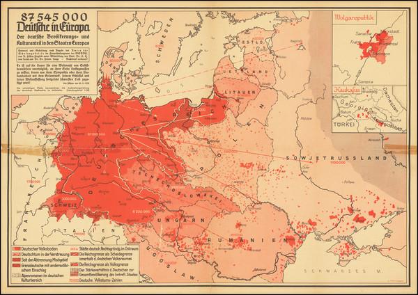 62-Europe and World War II Map By Arnold Hillen-Ziegfeld