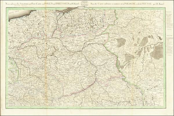 68-Poland Map By Johann Ernst Knittel