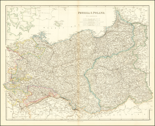 40-Poland and Baltic Countries Map By John Arrowsmith