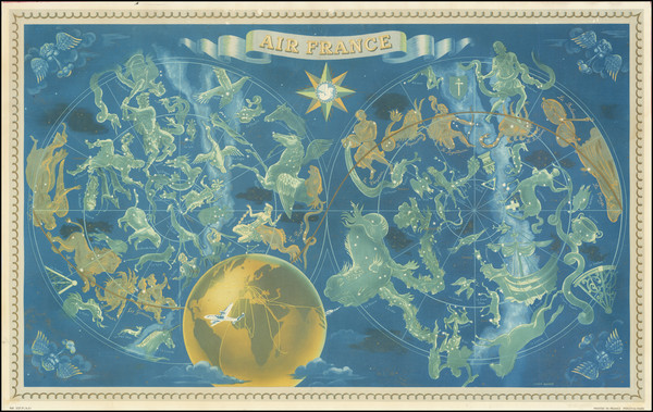62-Pictorial Maps and Celestial Maps Map By Lucien Boucher