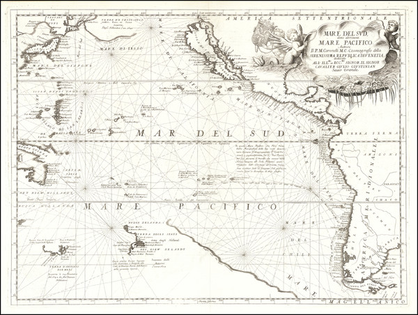 75-Australia & Oceania, Pacific, Australia, Oceania, New Zealand, Hawaii and California Map By