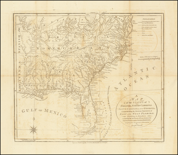 54-United States, Mid-Atlantic, South, Southeast and Midwest Map By Joseph Purcell