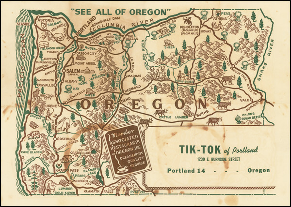 35-Oregon Map By Anonymous
