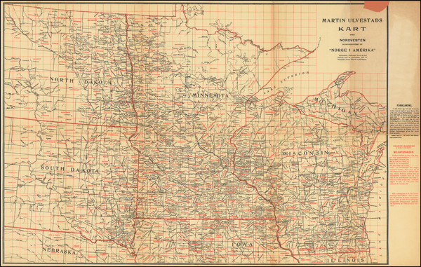 92-Minnesota, Wisconsin, North Dakota and South Dakota Map By Martin Ulvestad