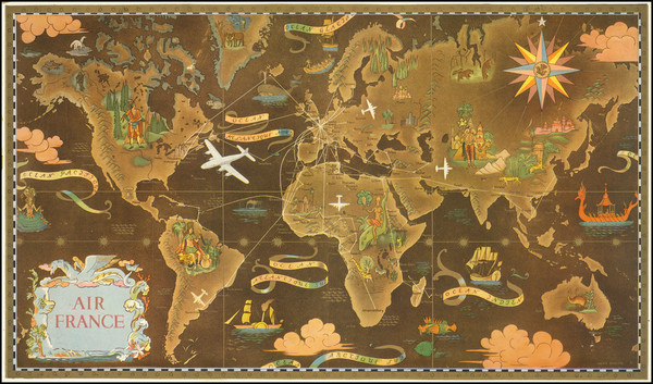 50-World and Pictorial Maps Map By Lucien Boucher