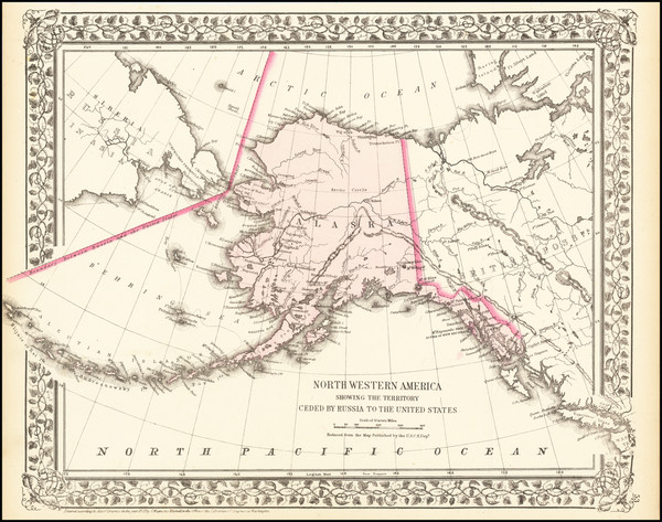39-Alaska and Canada Map By Samuel Augustus Mitchell Jr.