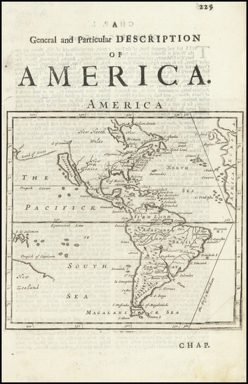 46-California as an Island and America Map By Herman Moll