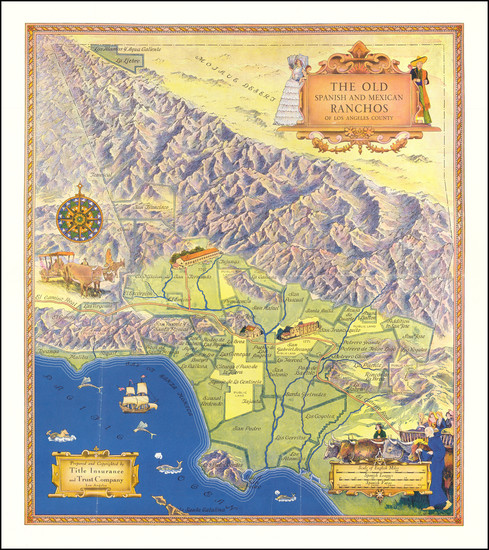 62-California and Los Angeles Map By Title Insurance & Trust Company  &  Gerald A. Eddy