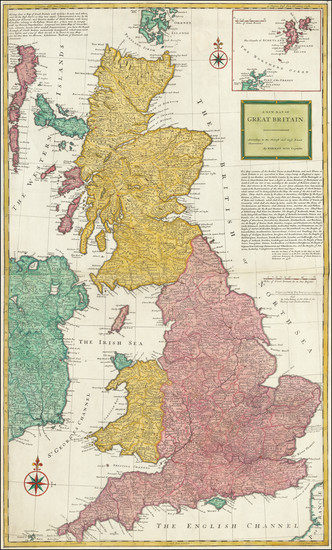 0-British Isles and England Map By Herman Moll