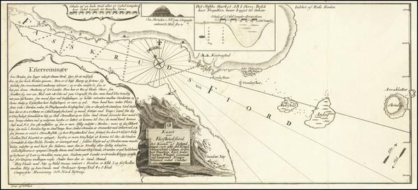 91-Iceland Map By J.P. Wleugel