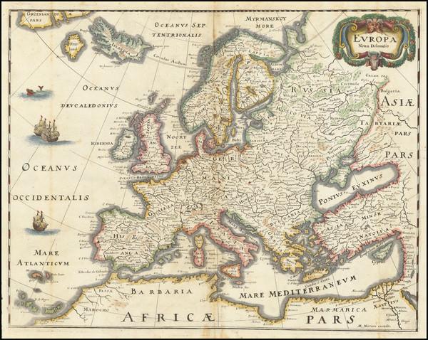 41-Europe Map By Matthaus Merian