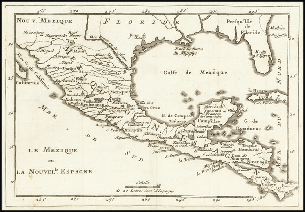 20-Florida, South, Texas and Mexico Map By Anonymous
