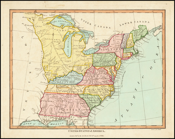 47-United States Map By Charles Wilkes