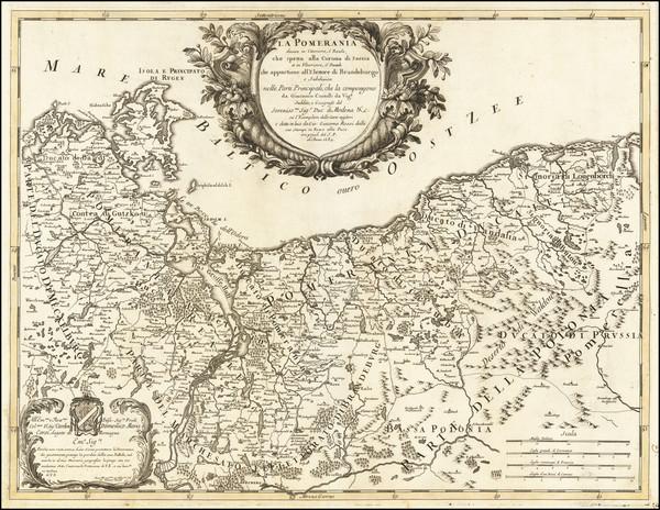 81-Germany and Poland Map By Giacomo Giovanni Rossi / Giacomo Cantelli da Vignola