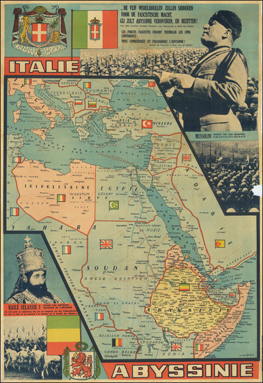 39-Africa, North Africa and World War II Map By W. Seghers