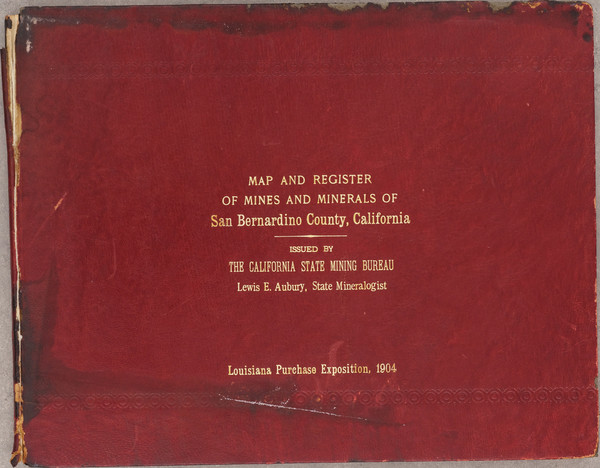 62-California, Los Angeles and Rare Books Map By California State Mining Bureau