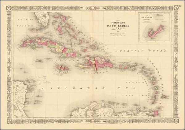 35-Caribbean Map By Alvin Jewett Johnson