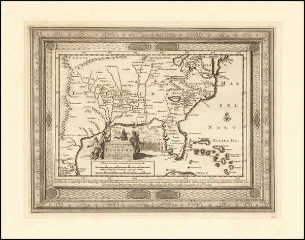 35-Florida, South and Southeast Map By Pieter van der Aa